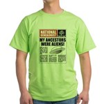 Ancestors Were Aliens Green T-Shirt