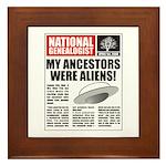 Ancestors Were Aliens Framed Tile