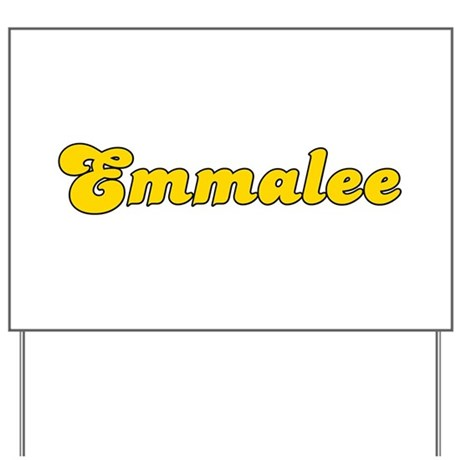 Retro Emmalee (Gold) Yard Sign