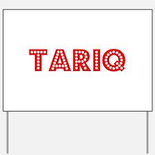 Retro Tariq (Red) Yard Sign