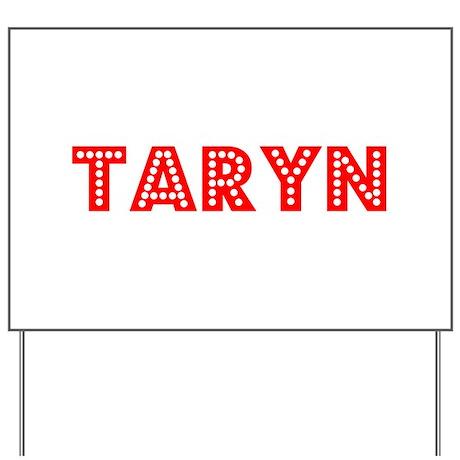 Retro Taryn (Red) Yard Sign