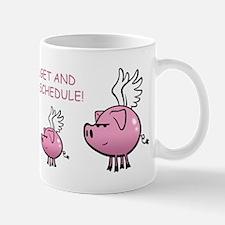 Skuzzo On Schedule Flying Pig Mug