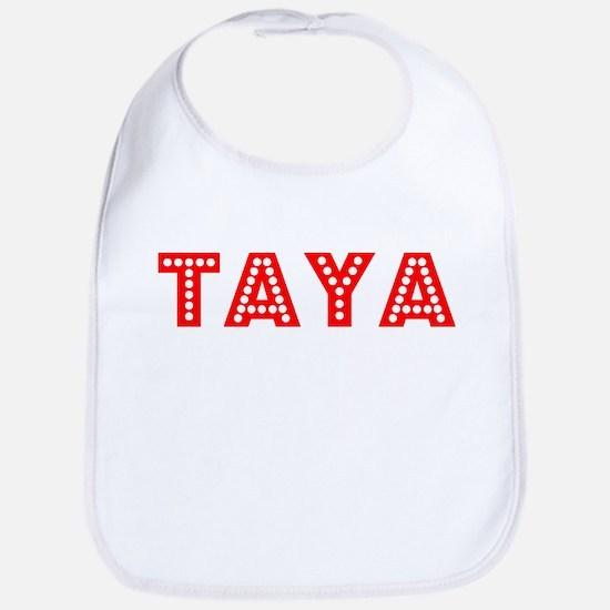 Retro Taya (Red) Bib