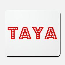 Retro Taya (Red) Mousepad