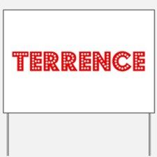 Retro Terrence (Red) Yard Sign