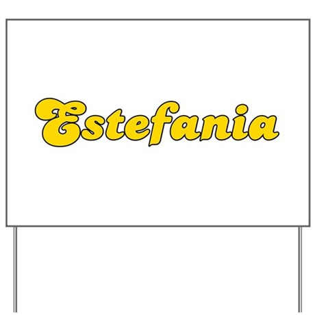 Retro Estefania (Gold) Yard Sign