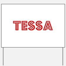 Retro Tessa (Red) Yard Sign