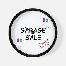 Garage Sale Wall Clock