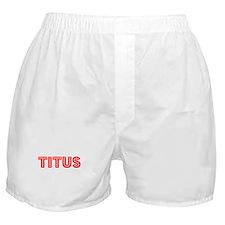 Retro Titus (Red) Boxer Shorts