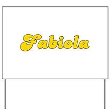 Retro Fabiola (Gold) Yard Sign