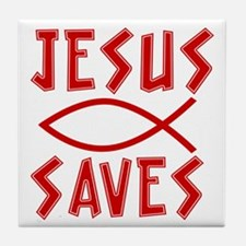 Jesus Saves! Tile Coaster
