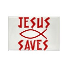 Jesus Saves! Rectangle Magnet