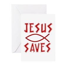 Jesus Saves! Greeting Cards (Pk of 20)