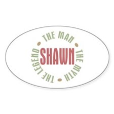 Shawn Man Myth Legend Oval Decal