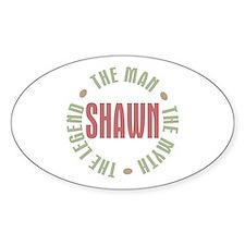 Shawn Man Myth Legend Oval Decal