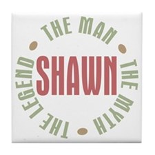 Shawn Man Myth Legend Tile Coaster