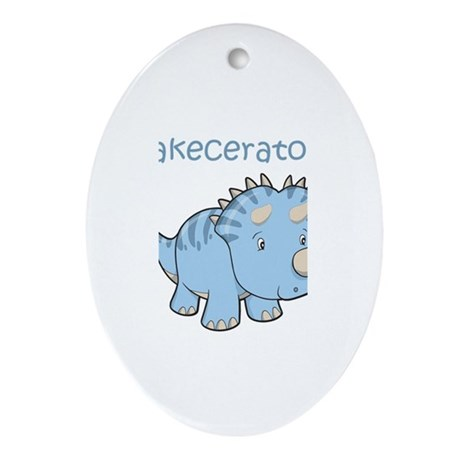 Jakeceratops Oval Ornament