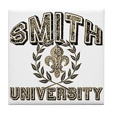 Smith Family Name University Tile Coaster