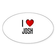 I LOVE JOSH Oval Decal