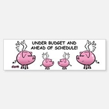 Skuzzo Flying Pig Bumper Bumper Bumper Sticker