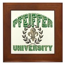 Pfeiffer Family Name University Framed Tile