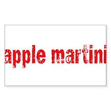 apple martini Rectangle Decal