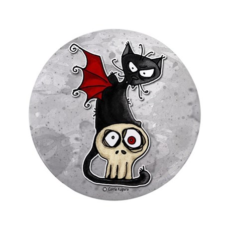 """Voodoodle - Fang Kitty 3.5"""" Button"""