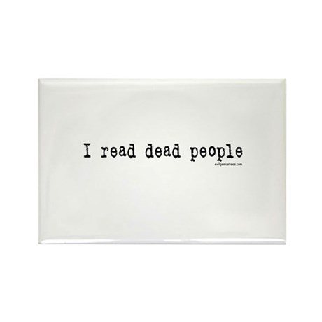 I read dead people Rectangle Magnet (10 pack)