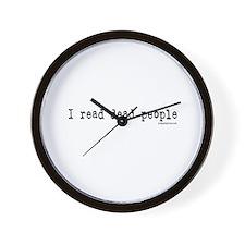 I read dead people Wall Clock