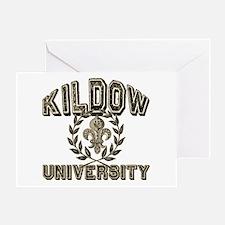 Kildow Family Name University Greeting Card