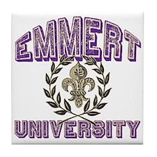Emmert Last Name University Tile Coaster