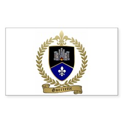 GUERRETTE Family Crest Rectangle Decal
