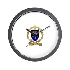 GUERRETTE Family Crest Wall Clock