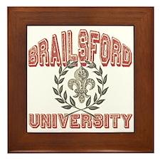 Brailsford Last Name University Framed Tile