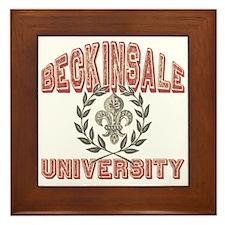 Beckinsale Last Name University Framed Tile