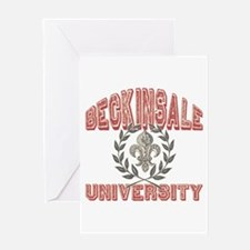 Beckinsale Last Name University Greeting Card
