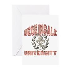 Beckinsale Last Name University Greeting Cards (Pk