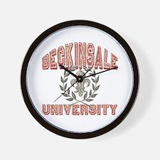 Beckinsale Last Name University Wall Clock