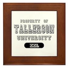 Tallerson Family Name University Framed Tile