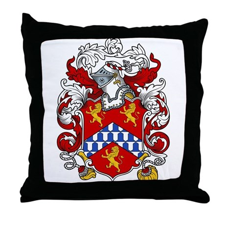 White Family Crest Throw Pillow