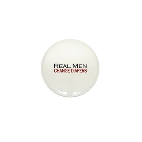 Real Men Change Diapers Mini Button (10 pack)