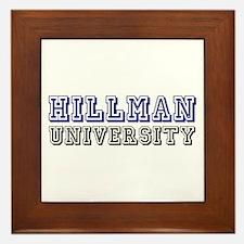 Hillman Family Name University Framed Tile
