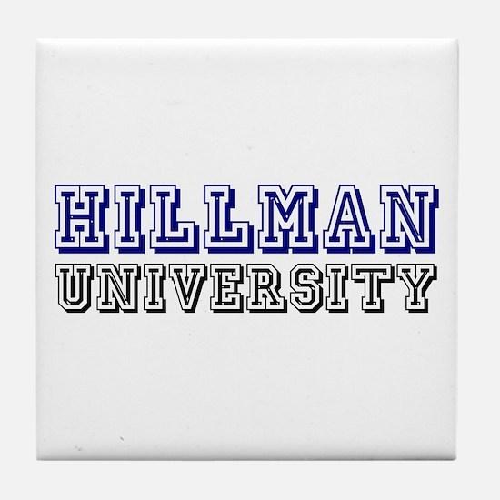 Hillman Family Name University Tile Coaster