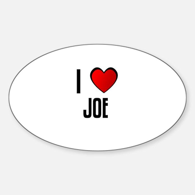 I LOVE JOE Oval Decal