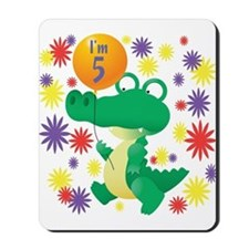 I'm 5 Birthday Alligator Mousepad