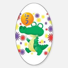 I'm 5 Birthday Alligator Oval Decal