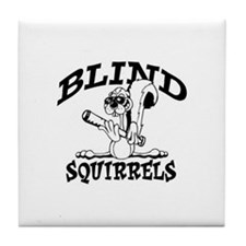 Blind Squirrels Tile Coaster Old School Colors