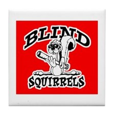 Blind Squirrel Tile Coaster