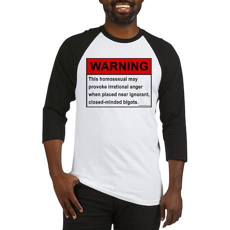 Homosexual Warning Baseball Jersey