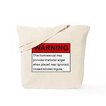 Homosexual Warning Tote Bag